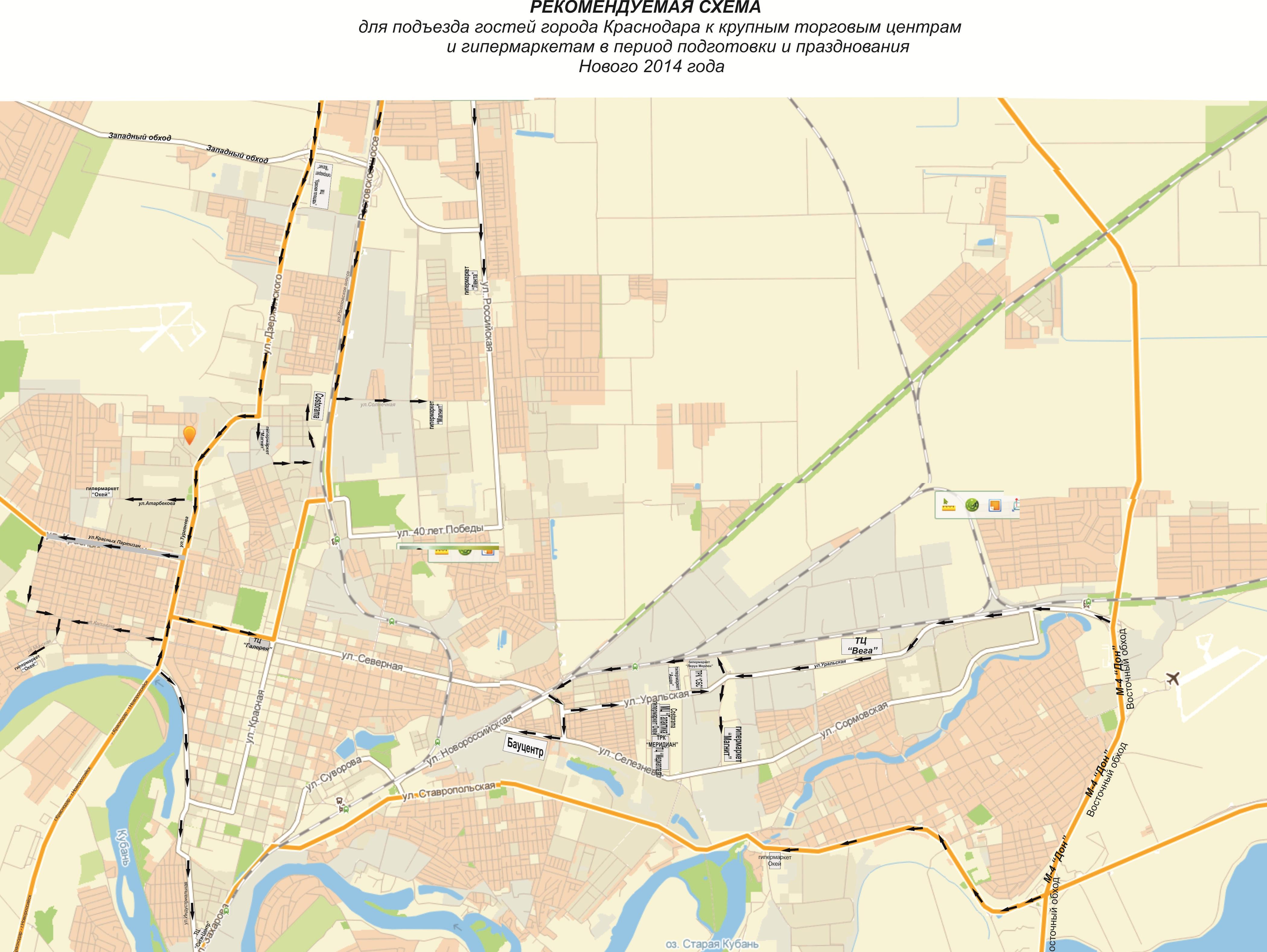 Схема городского транспорта города краснодара | 21vek ...: http://21vek-kartina.ru/31460
