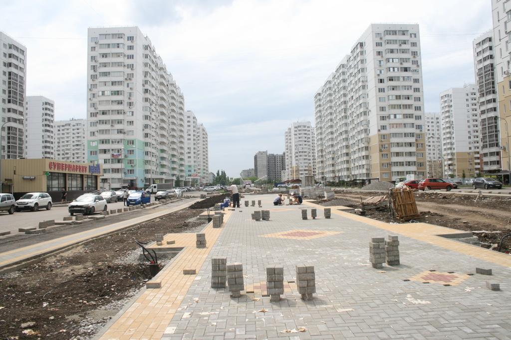 Поставки для нового жилого микрорайона московский в городе краснодар
